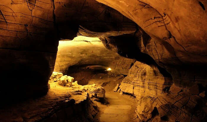 Belum caves are natural underground caves formed by the constant flow of underground water