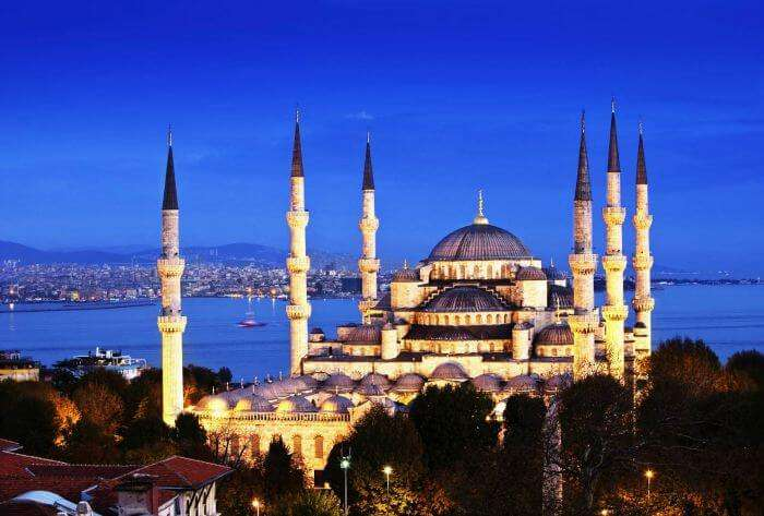 Blue mosque is one of the most famous historical sites in Turkey