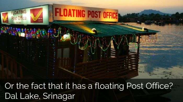 Floating post office in srinagar