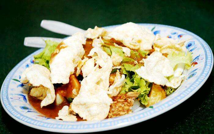 Gado-Gado serves as an exquisite potpourri of steamed veggies