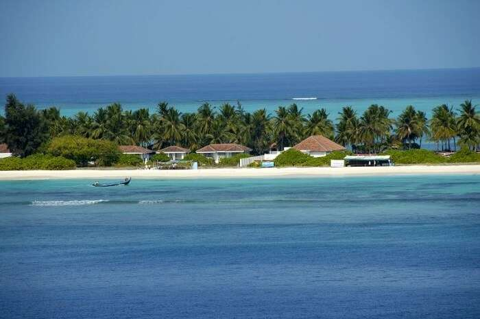 beach resort on kadmat island
