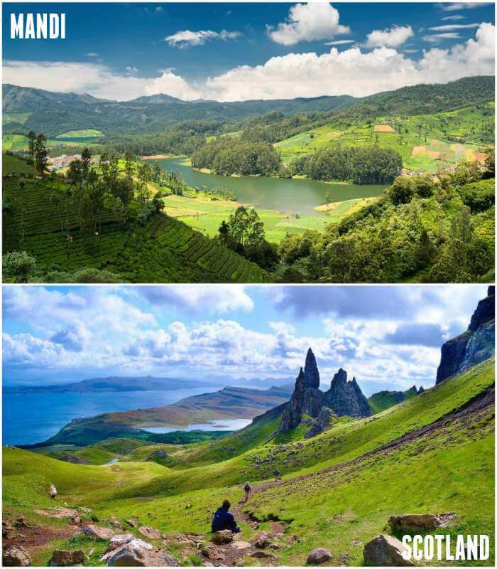 Scotland and mandi both gives the same feel