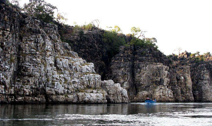 The Marble Rocks of Jabalpur and the flowing Narmada