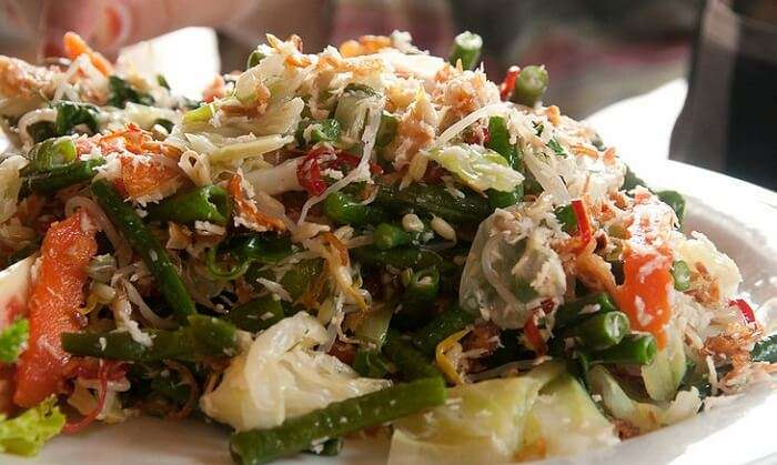 Sayur Urab serves as a perfect vegetarian food in Bal