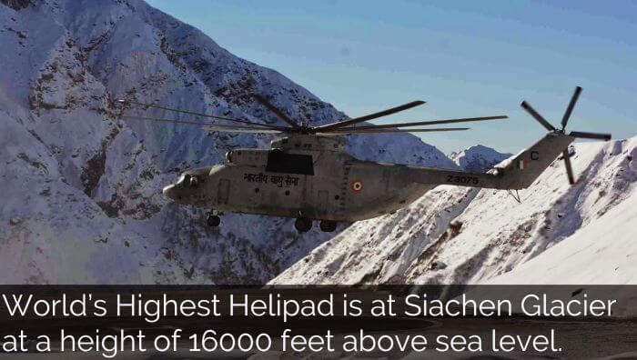 Worlds highest helipad