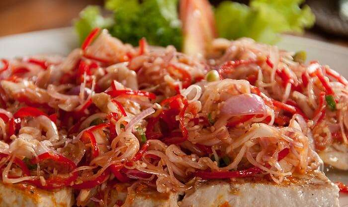 The tuna sambal matah is a popular Balinese cuisine amongst those who love seafood