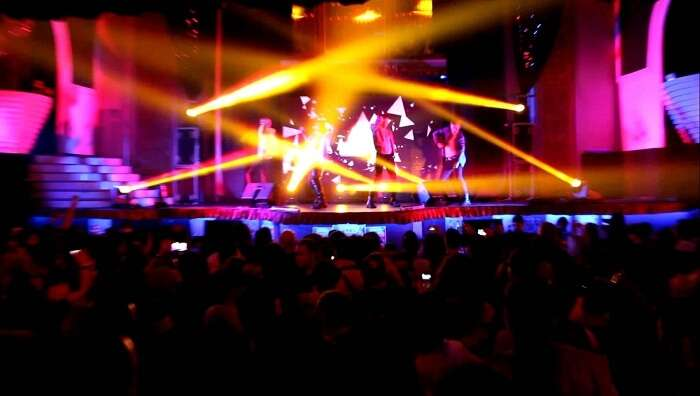 A performance at the X-Large Club in Istanbul