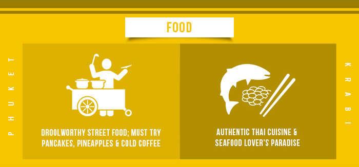 Krabi vs Phuket-Food