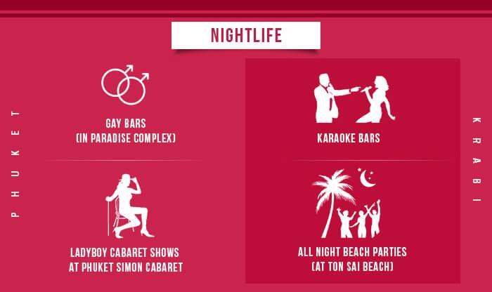 Krabi vs Phuket - Nightlife
