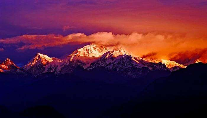Sunrise at Kanchenjunga