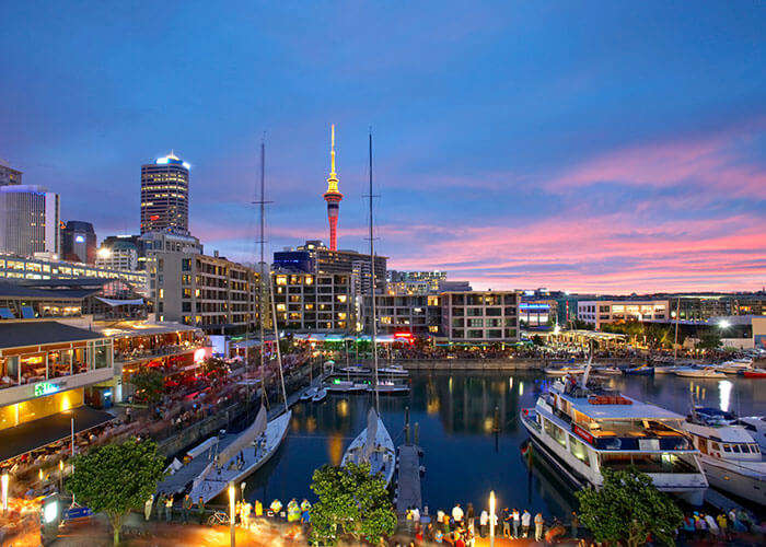 Skyline of Auckland is a popular one among top tourist places in New Zealand