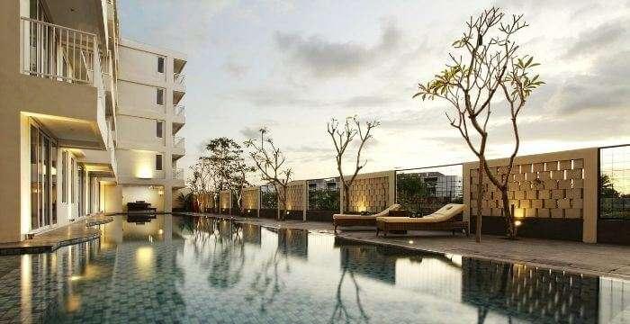 Terrace pool at Paragan Resort in Bali