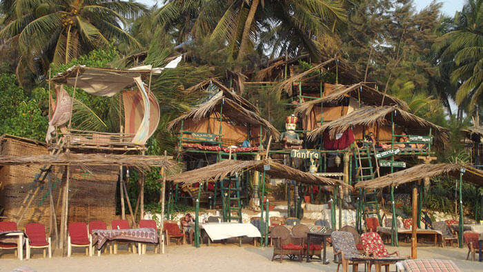 Beach Shacks in Goa offer food at throwaway prices