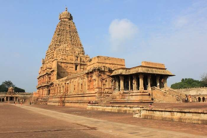 The famous Brihadeeswara Temple at Thanjavur in Tamil Nadu