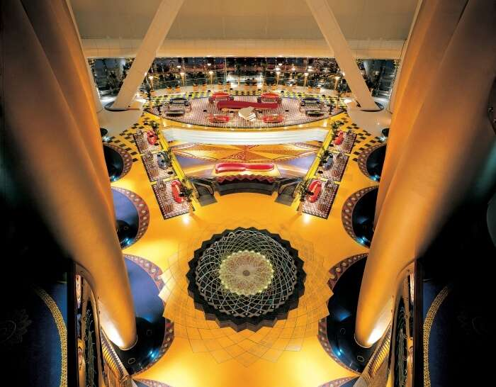 The grand interiors of Burj Al Arab in Dubai