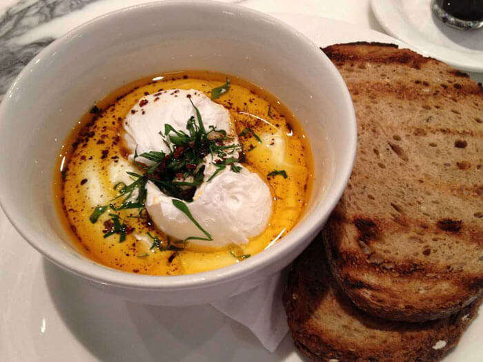Turkish Eggs at Changa restaurant - Istanbul