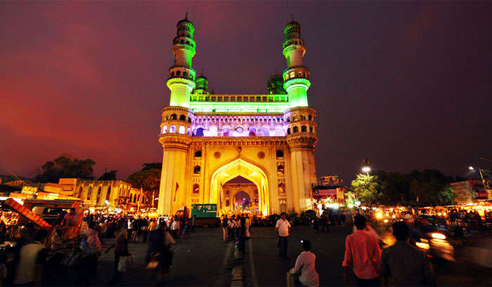evening view of Charminar in Hyderabad