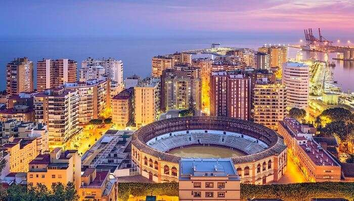 City of Malaga is another beautiful tourist attraction in Spain
