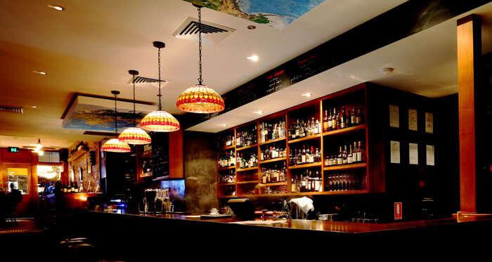The bar at Clarences