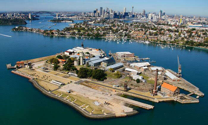 Aerial view of Cockatoo island