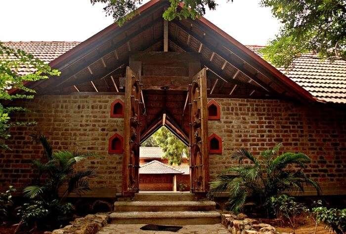 Entry gates of Dakshinachitra, Muttukadu