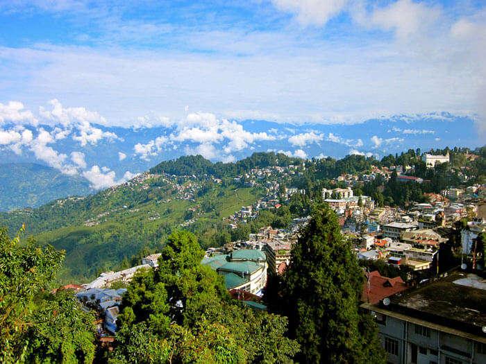 Picturesque town of Darjeeling in West Bengal