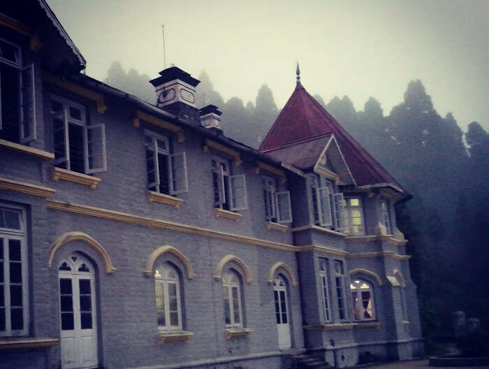 Early morning view of the haunted school in Dow Hills in Kurseong