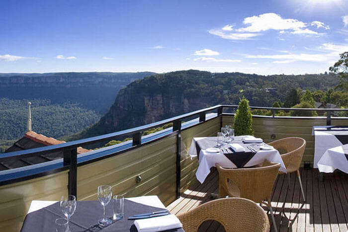 Jamison Valley as seen from the rooftop of Echoes Boutique Hotel & Restaurant