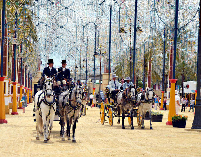 An ongoing Feria del Caballo Horse Fair