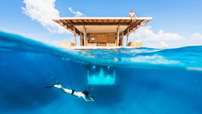 The novelty of floating hotel in Zanzibar
