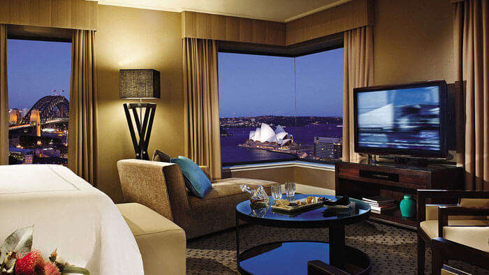 A view of the Opera House from a suite of Four Seasons Hotel