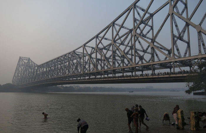 Morning view of the Ghats of The Ganges at Howrah