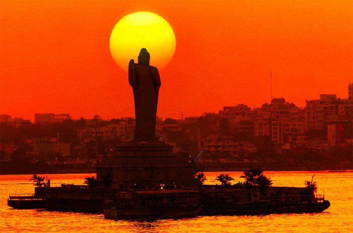 giant buddha statue in Hyderabad