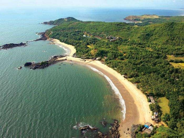 Crescent beach at Gokarna in Karnataka