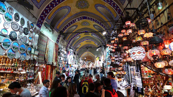 Grand Bazaar is one of important tourist places in Istanbul