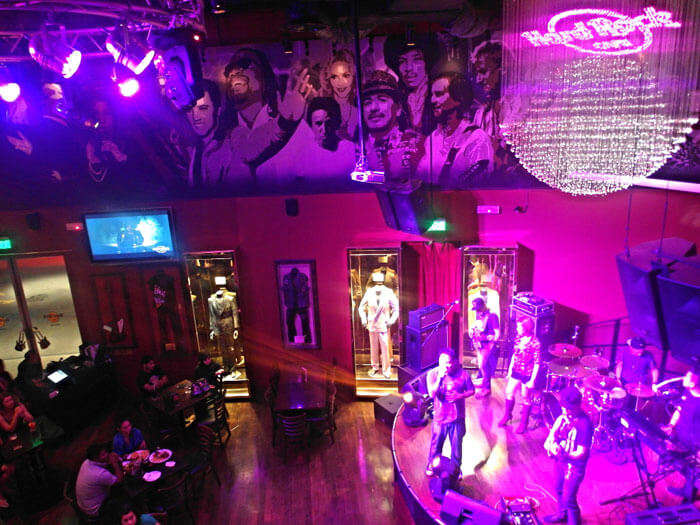 Artists performing at Hard Rock Café - a lively place for music in nightlife of Malaysia