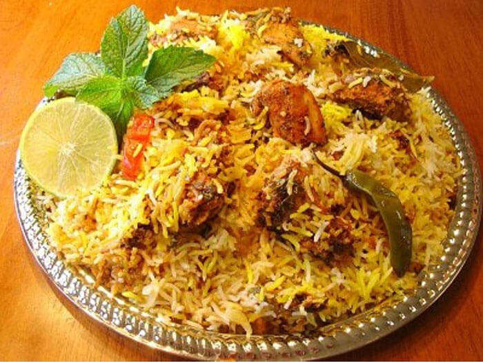 delicious plate of Hyderabadi Biryani