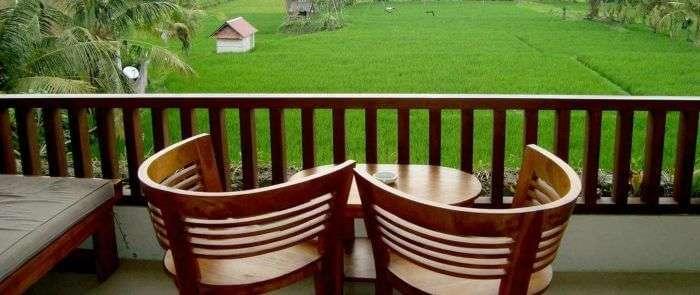 From the balcony of Inata Bisma Resort, Ubud