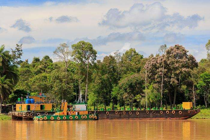 Kinabatangan is an only rainforest among the top tourist places in Malaysia