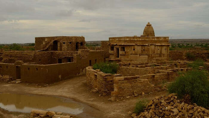Lone haunted temple in the haunted Kuldhara village