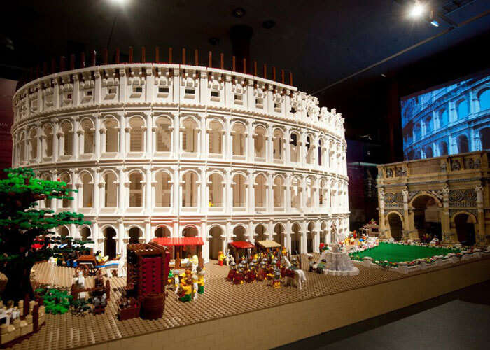 Lego Colosseum installation at the Nicholson Museum