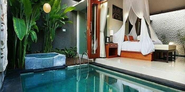 Private pool of Legian Kriyamaha Villa