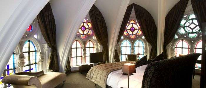 The interiors at Martin's Patershof Church Hotel in Belgium