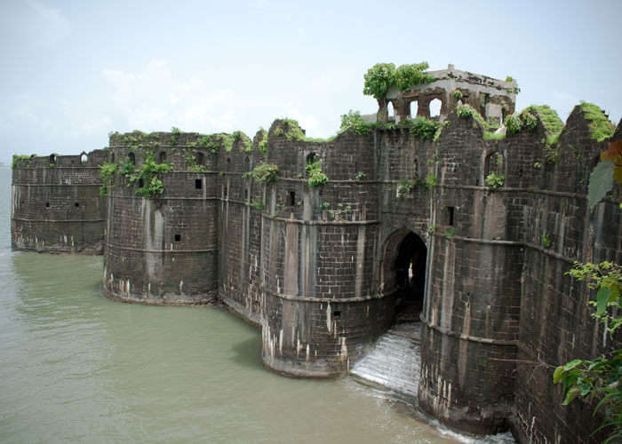 A view of the Janjira Fort in Murud