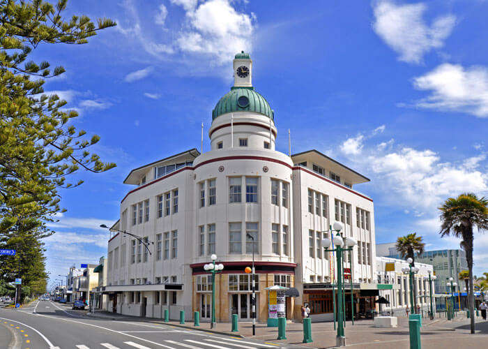 The picturesque town of Napier in Hawke's Bay is one of the best places to visit in New Zealand with Maori influence