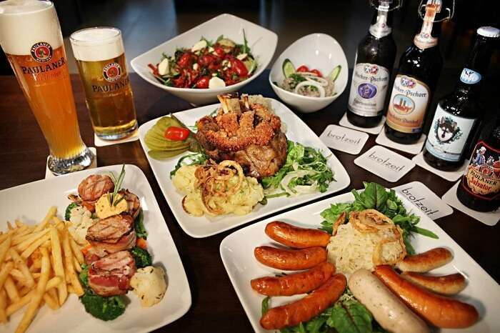 Many delicacies offered during Oktoberfest