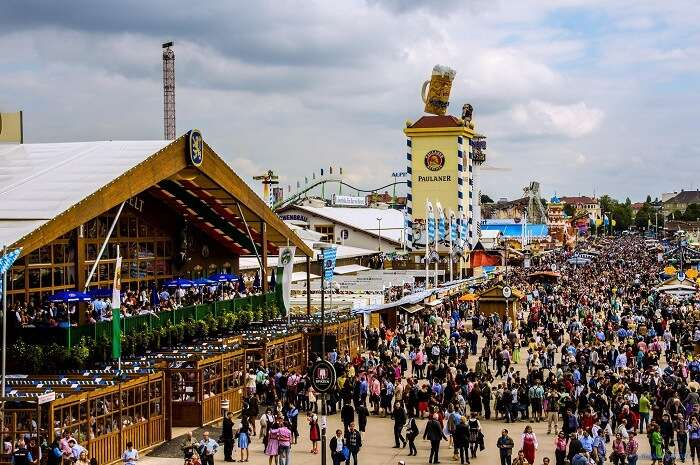 About 6 million people each year attend the Munich edition of Oktoberfest