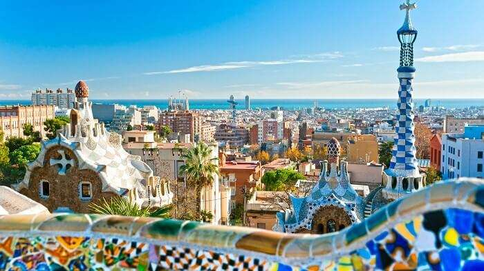 Park Guell in Barcelona is one the best places to see in Spain