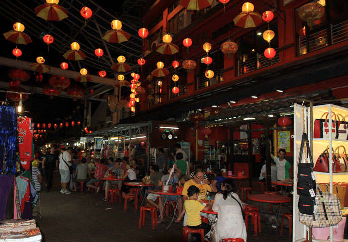 Petaling Street is known for its night market place in Malaysia