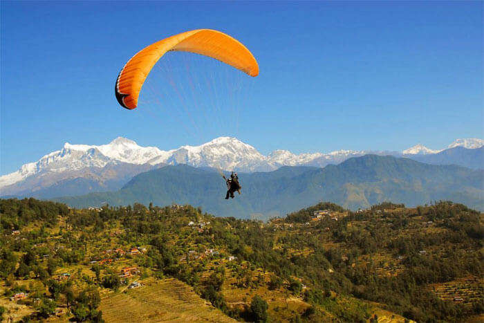 Scale the Himalayas while you go paragliding in Ranikhet